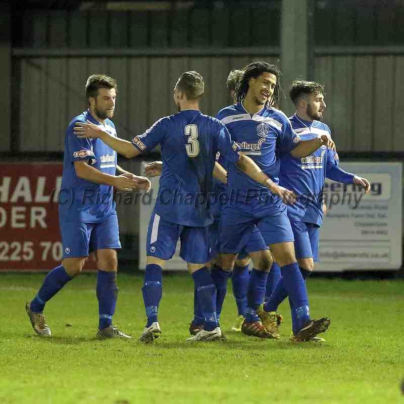 Chippenham Town V Dorchester Town Match Pictures 13th Jan 2015