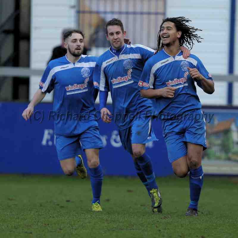 Chippenham Town V Cirencester Town Match Pictures 17th Jan 2015