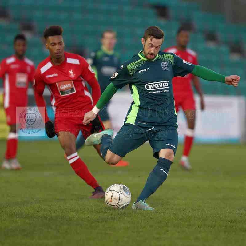 Chippenham Town V Whitehawk FA Trophy Match Pictures 25th November 2017