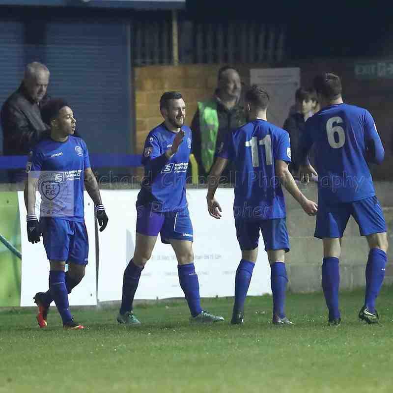 Chippenham Town V Whitehawk Match Pictures 2nd December 2017