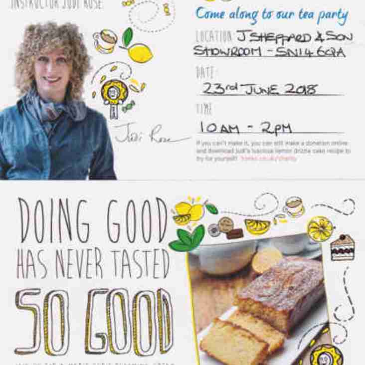 Charity event in aid of Marie Curie on Saturday 23rd June.
