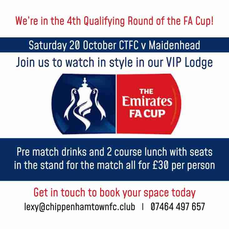 Saturday 20th October Chippenham Town FC V  Maidenhead United FC