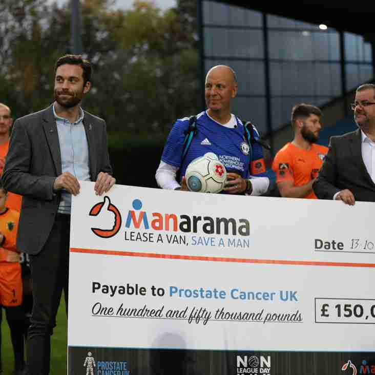 MANarama National League campaign raises £150,000 for Prostate Cancer UK