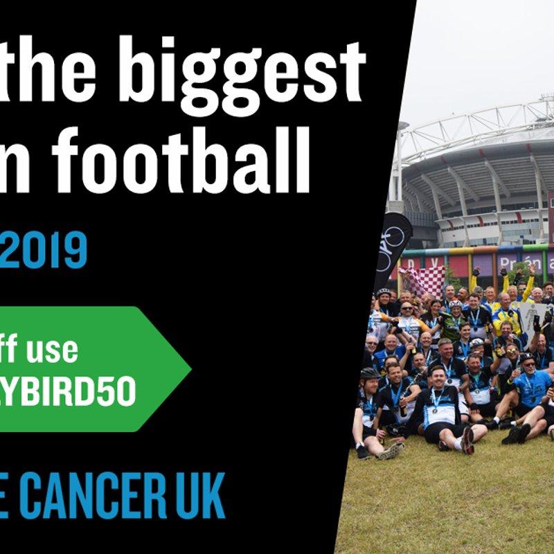 Football to Amsterdam 2019 Prostate Cancer UK