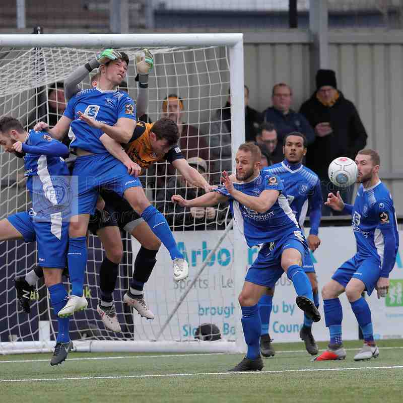 Chippenham Town V SLough Town Match Pictures 19th January 2019