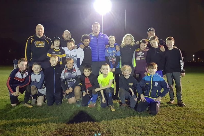 Surprise Guest Coach For Hawks & U10s