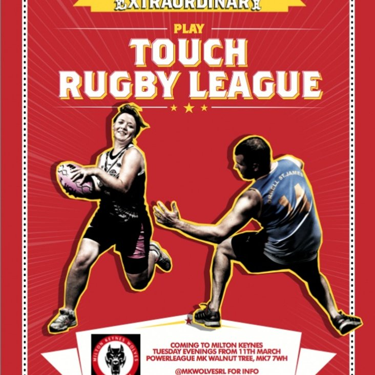 Play Touch Rugby League in MK!<