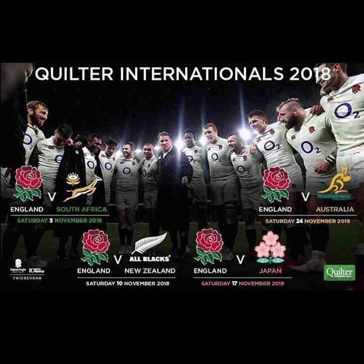 Autumn International Tickets 2018 - On Sale Now!