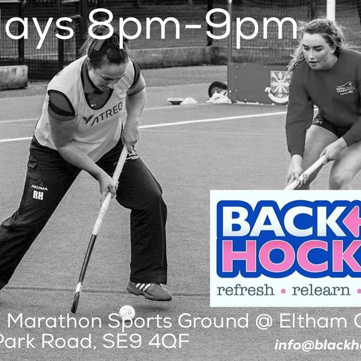 GET BACK TO HOCKEY FOR FITNESS, FUN AND FRIENDSHIP<