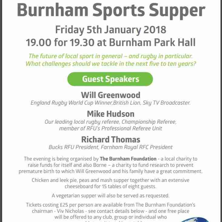 Burnham Sport Supper 2018