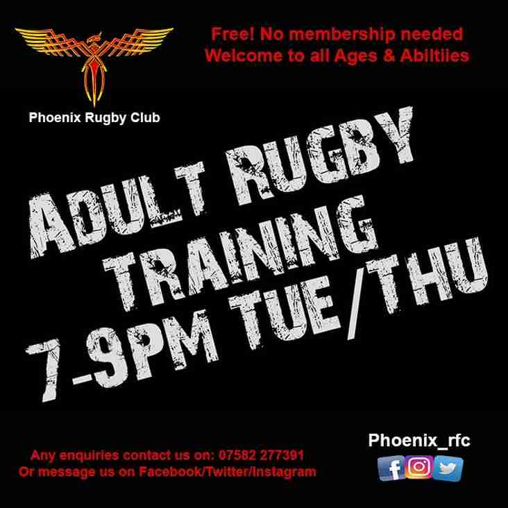 Adult Training 7-9pm Tuesday & Thursday