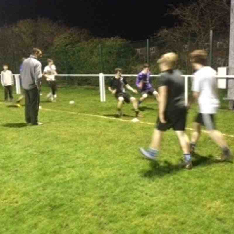 U17's training with manager Russ Hoult