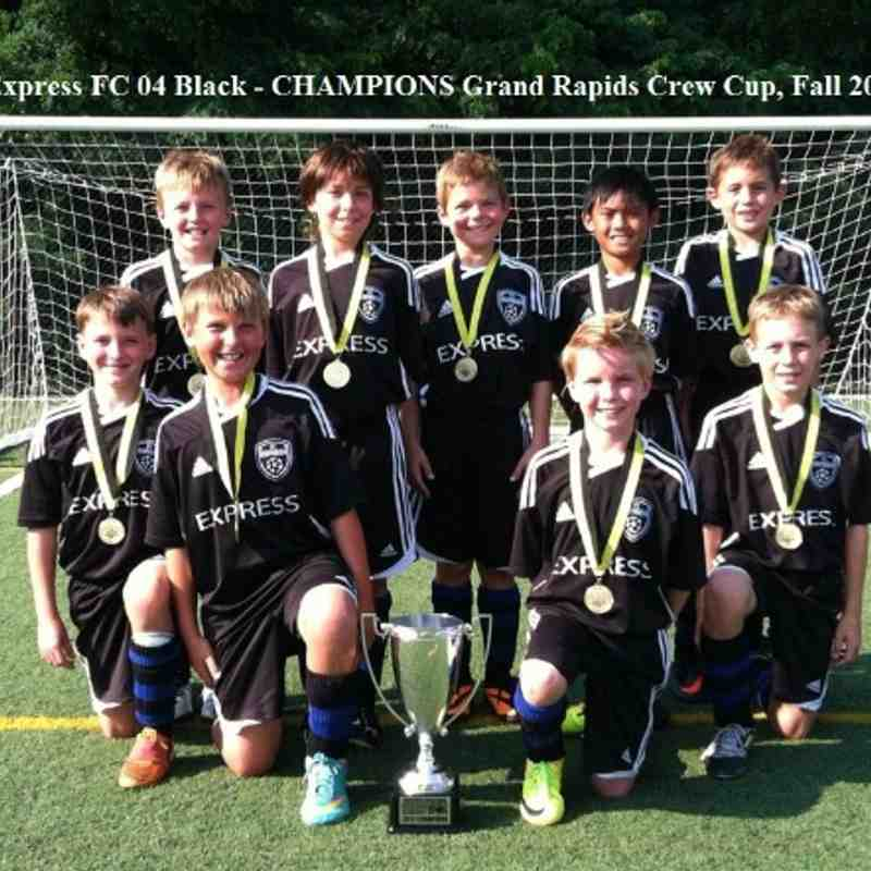 Express FC 04 Black - CHAMPIONS Grand Rapids Crew Cup Fall 2013!
