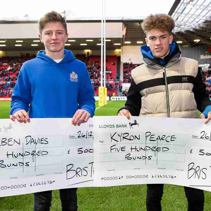 Weston Under 15s player receive BRIS bursary