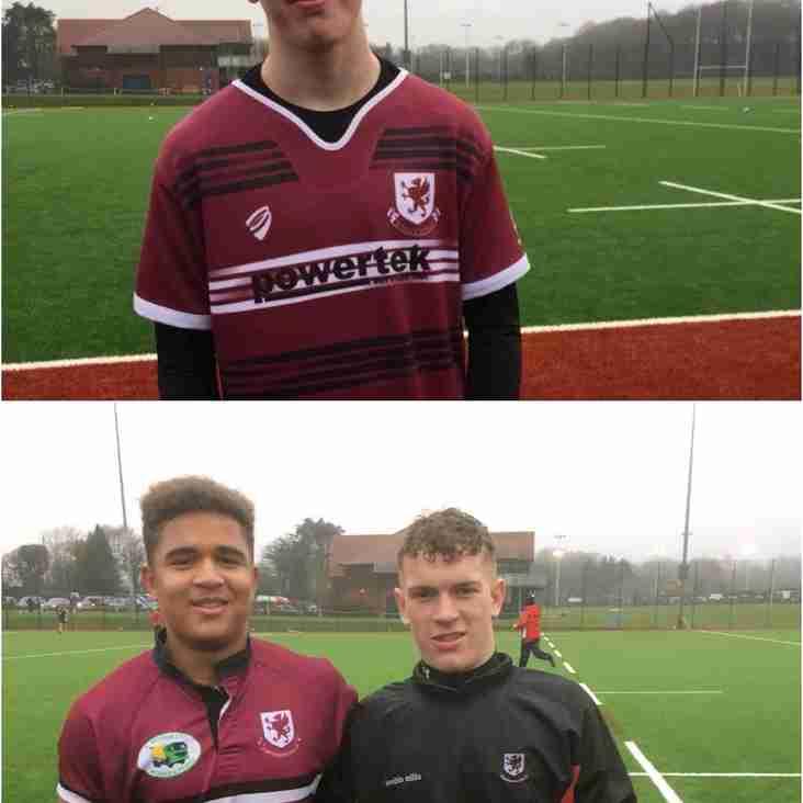 Weston Under 16's representing Somerset RFU
