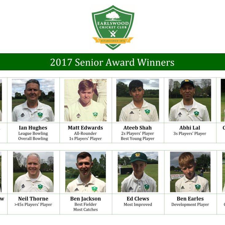 2017 Senior Award Winners<