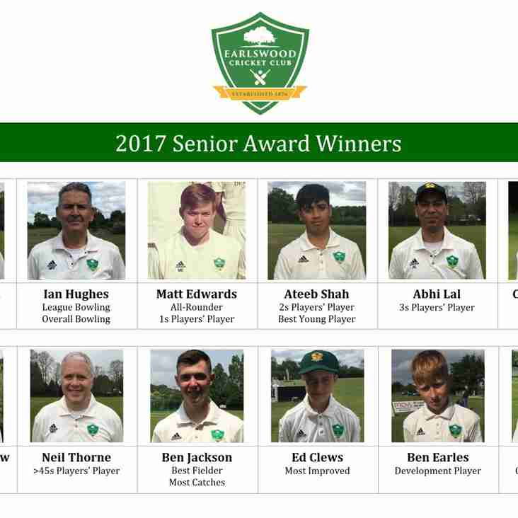 2017 Senior Award Winners