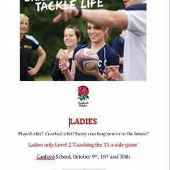 Ladies Only level 2 Coaching Days - Canford School