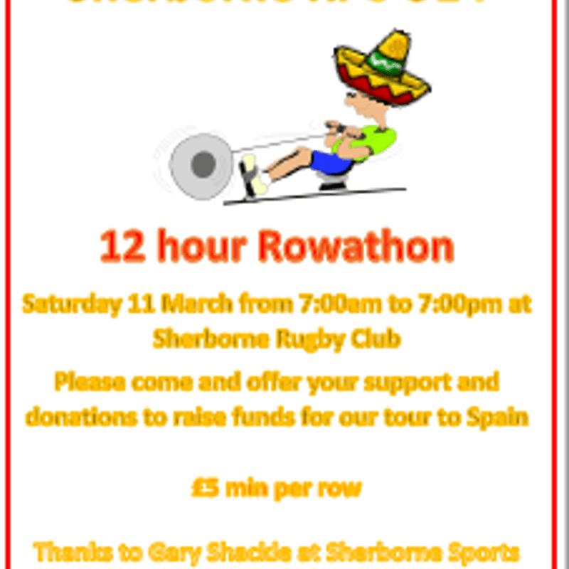 SRFC U14s Rowathon Saturday 11th March