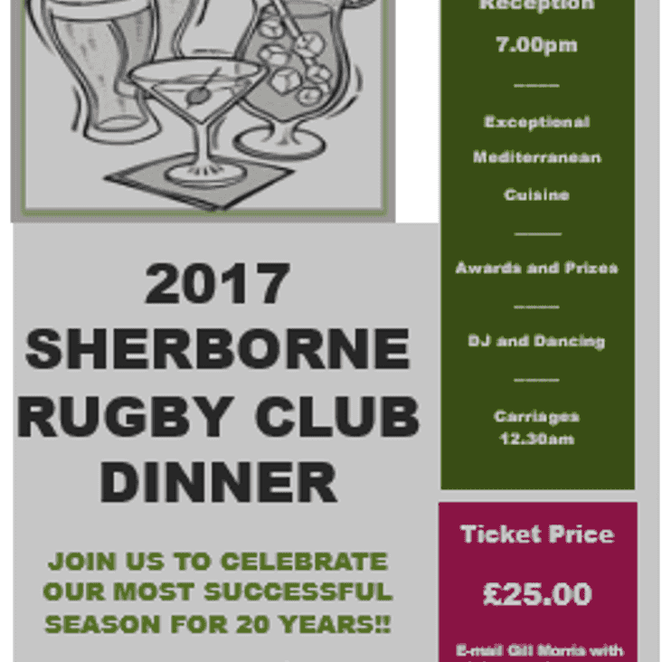 SRFC Annual Dinner and Dance 2017 - get your tickets now