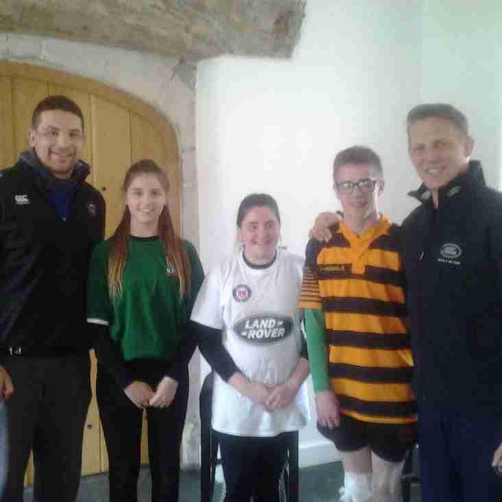 Lucky SRFC Players get to train at Bath RFC's Farleigh House!