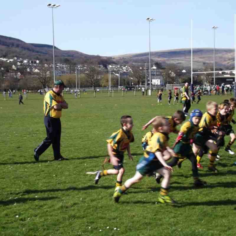 Beddau under 8's against Aberdare. 11/03/2012