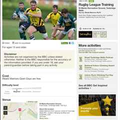 Warriors feature on BBC Sport Get Inspired