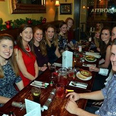 Cardiff University Korfball Christmas Meal 2013
