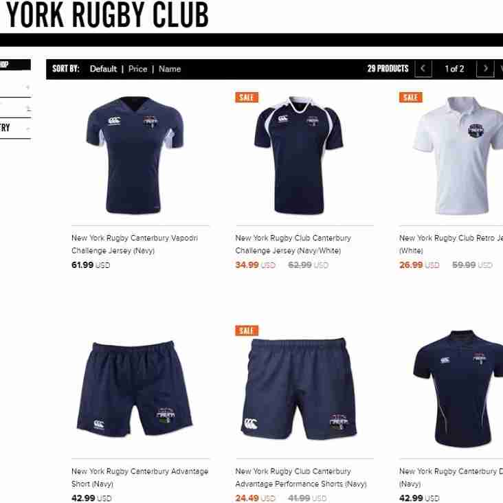 Free Shipping in the NYRC Team Store Hosted by World Rugby Shop