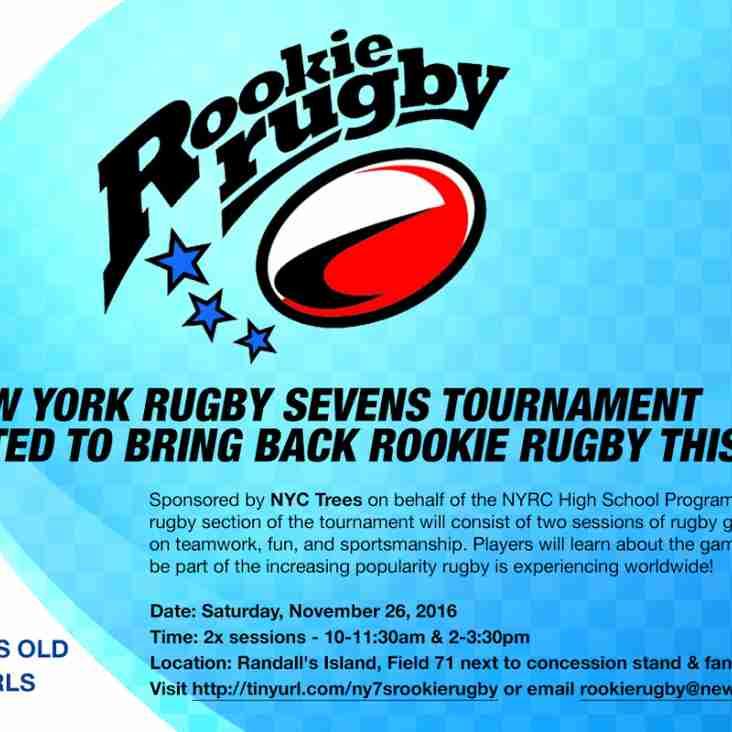 Rookie Rugby Returns to NY7s!