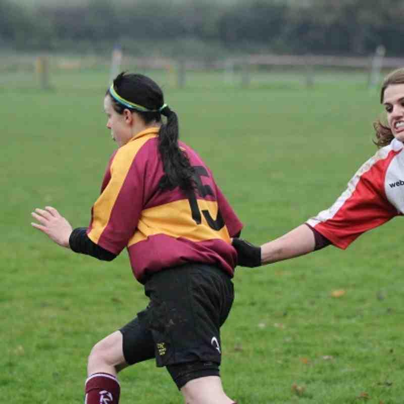 2012 Nov04 Warwickshire Ladies vs Leicestershire Ladies Rugby