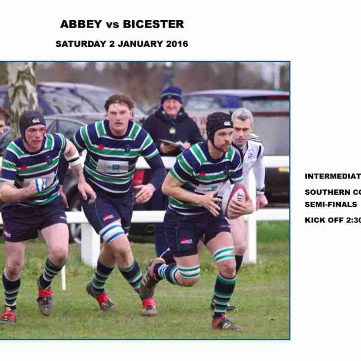 Abbey to take on Bicester in the Intermediate Cup