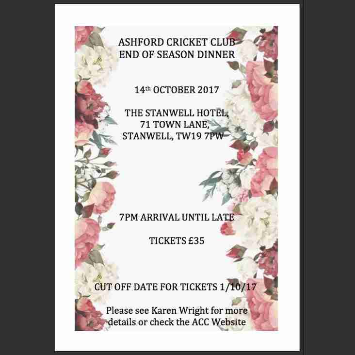 Annual Awards Dinner - Saturday 14th October