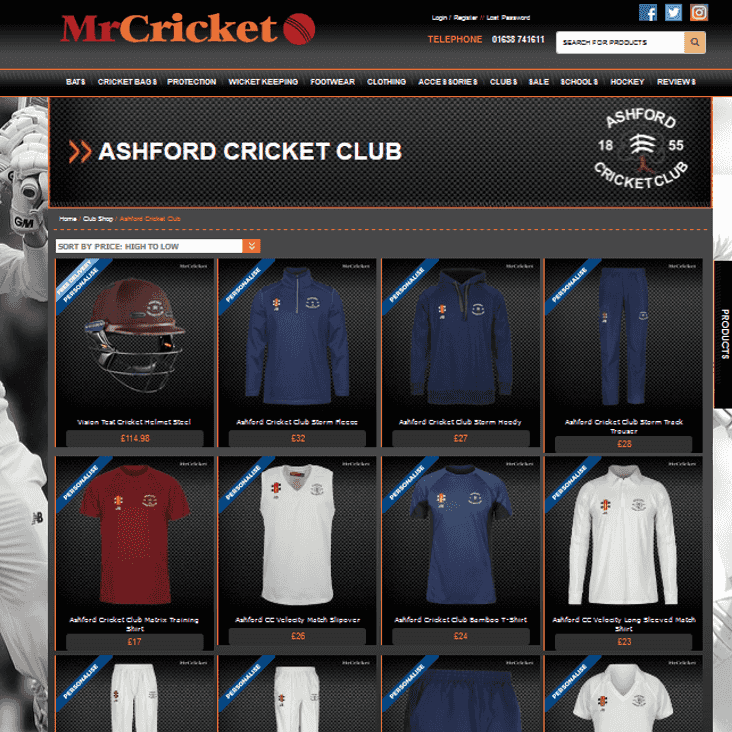 UPDATE: Juniors sizes & prices added >> New club kit shop live online