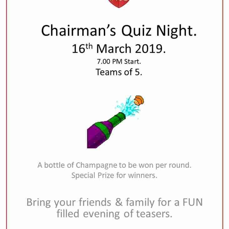 Hockey Club Quiz night - Sat 16th March
