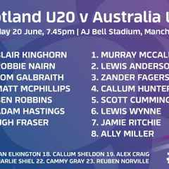 Marr Rugby - Congratulations to Lewis Anderson U20s start v Australia