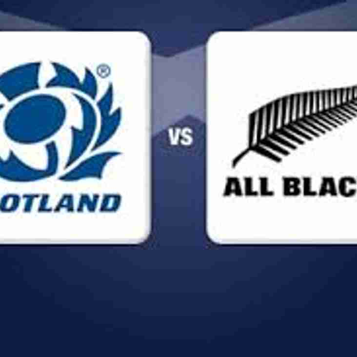 Scotland v All Blacks on the biggest screen in Troon