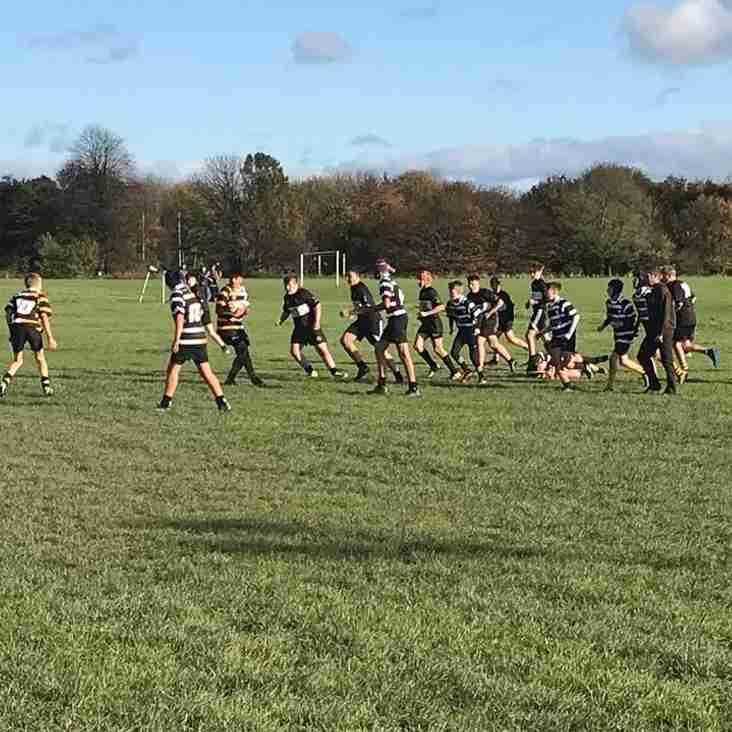 Broughton Park Under 14's go down against Wigan last Sunday