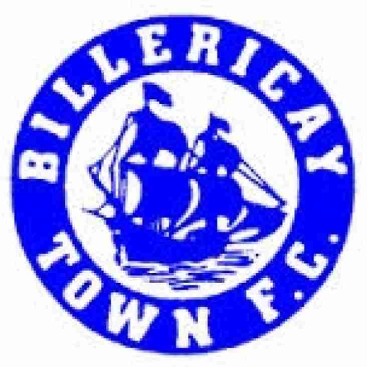 Saturday 15th April Tanners welcome League Cup winners Billericay Town