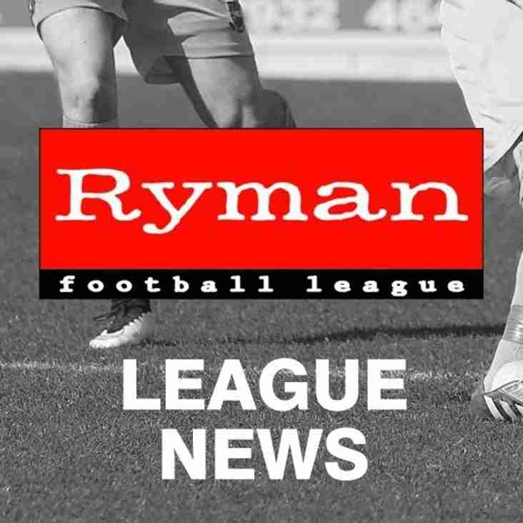 Ryman fixtures for 2016/17 released today