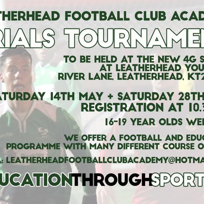 Tanners Academy Trials for 2016/17 - Saturday 28th May at 10.30am