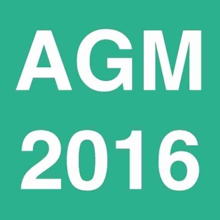 AGM 2016 Thursday 28th July 2016