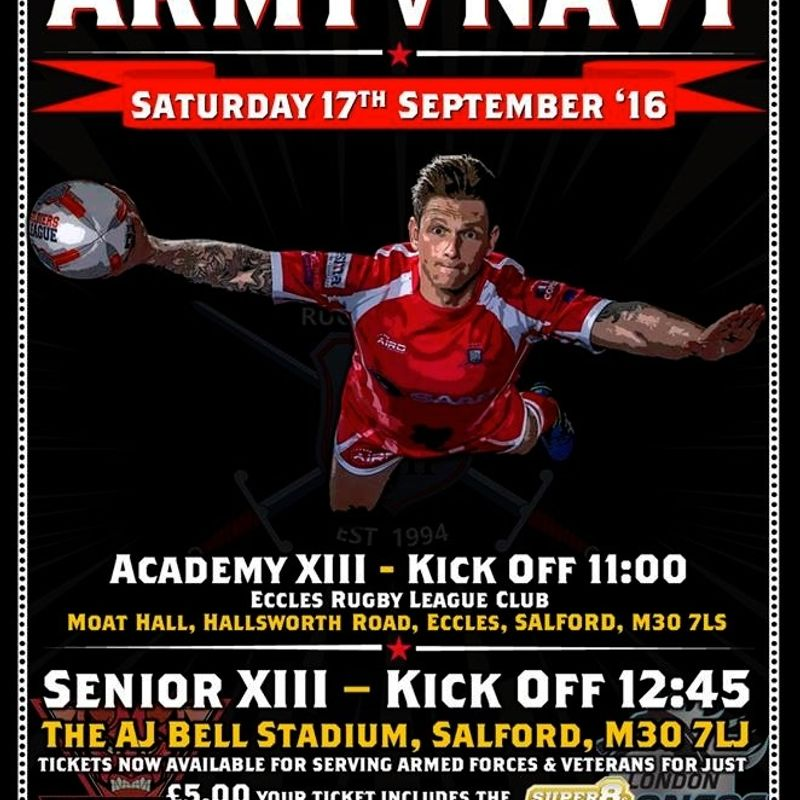 Inter Services Round 2 - Army v Royal Navy
