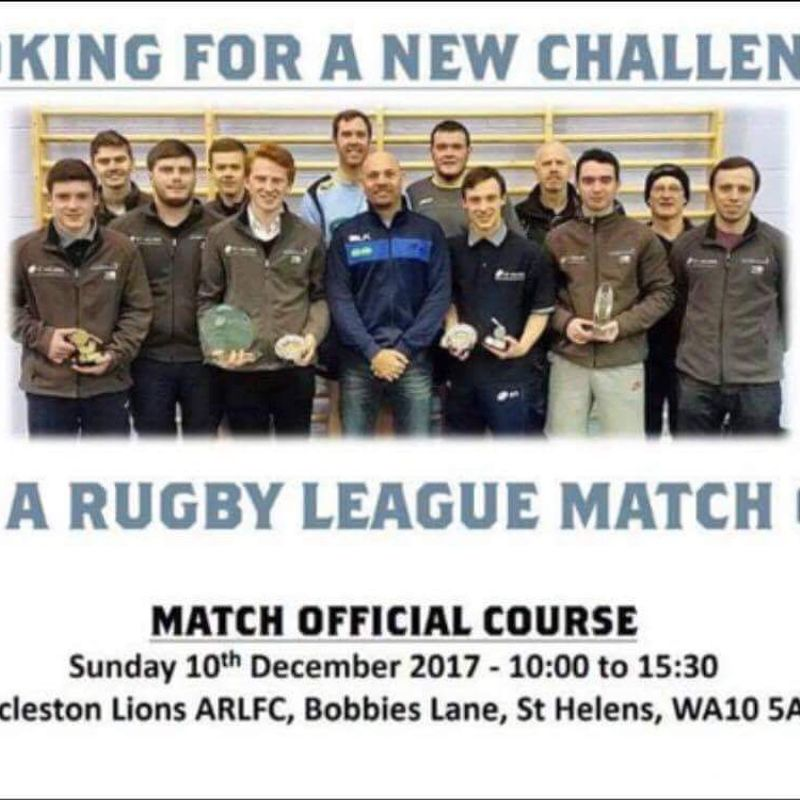 Rugby League Officials Course