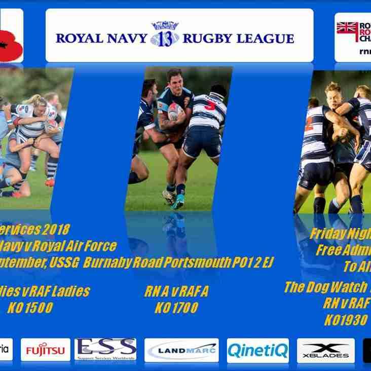 Royal Navy v Royal Air Force - Inter Services Round 3