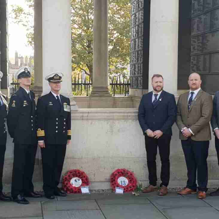 Wreath Laying at the Naval Memorial