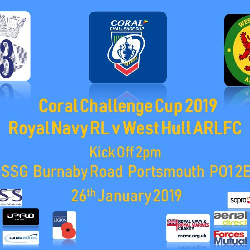 Coral Challenge Cup 1st Round RNRL v West Hull ARLFC Live!