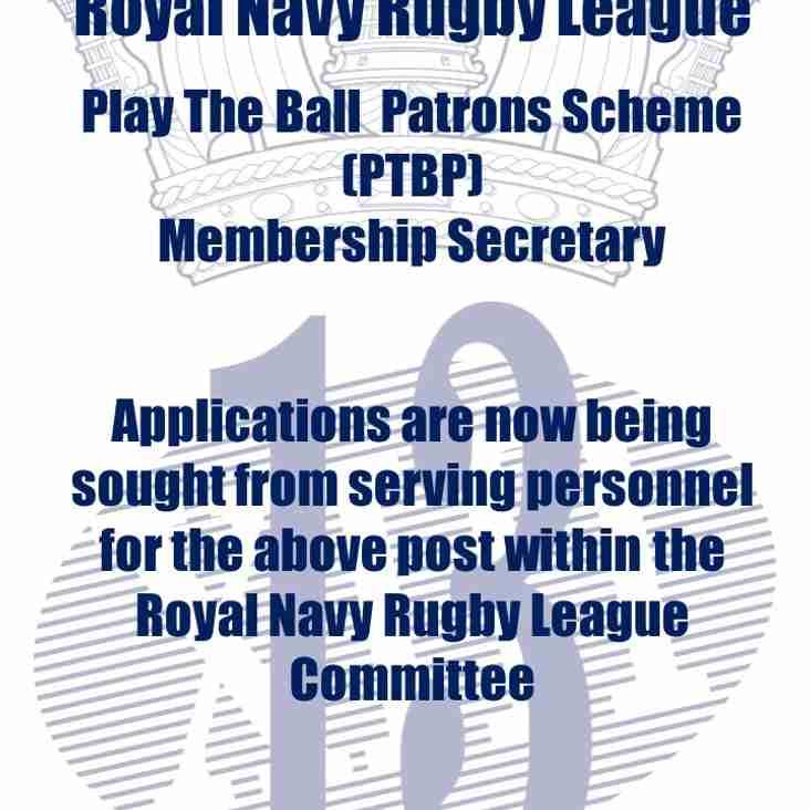 RNRL Play The Ball Patrons Membership Secretary