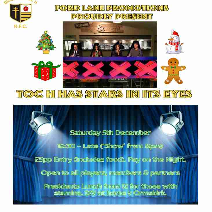 Toc H Has Stars in it's Eyes - Saturday 5th December