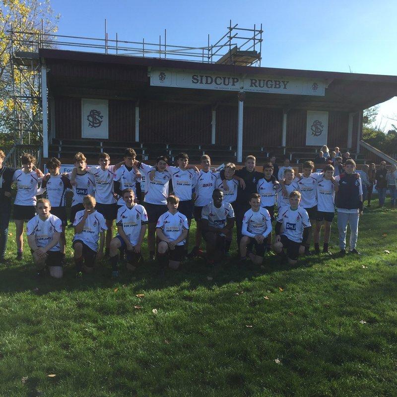 Sidcup U15s beat Blackheath 22-12.